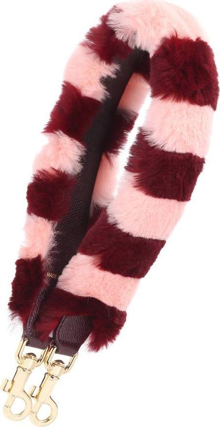 Dolce & Gabbana Striped fur and leather bag strap