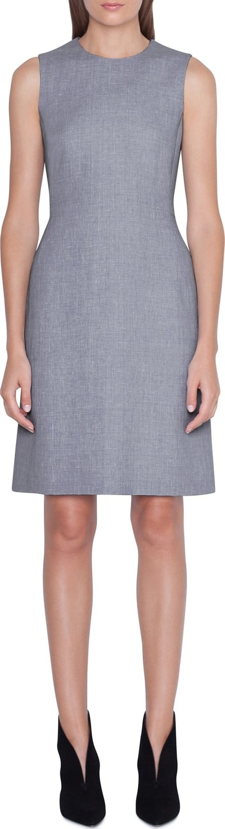 Akris Linen & Wool Seamed Sheath Dress