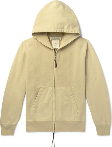 Remi Relief Distressed Loopback Cotton-Jersey Zip-Up Hoodie