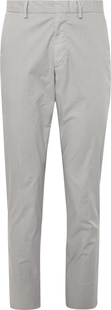 Ermenegildo Zegna Garment-Dyed Stretch-Cotton Trousers