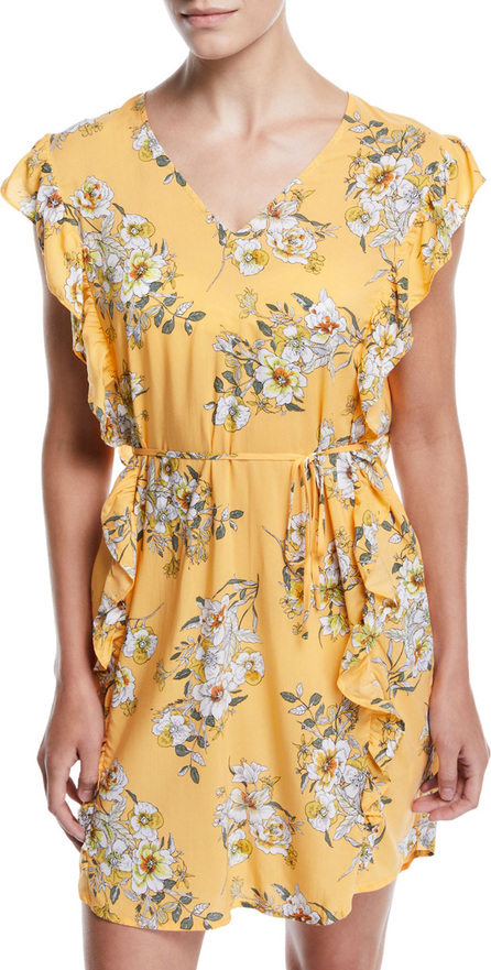 Seafolly Midsummer Floral Ruffle Coverup Tunic Dress