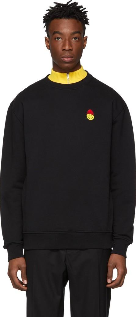 AMI Black Smiley Edition Patch Sweatshirt