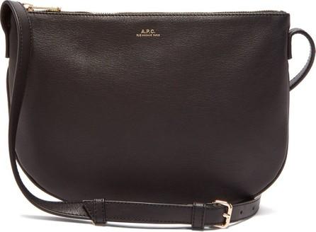 A.P.C. Maelys half-moon leather cross-body bag