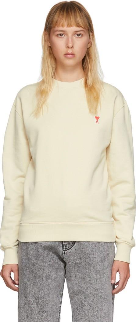 AMI Beige Oversized Ami De Coeur Sweatshirt