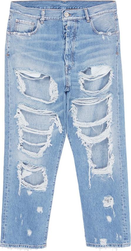 Ben Taverniti Unravel Project Destroyed wide leg boyfriend jeans