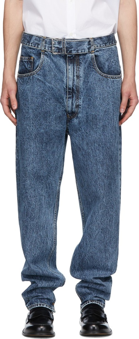 Maison Margiela Blue Belted Jeans