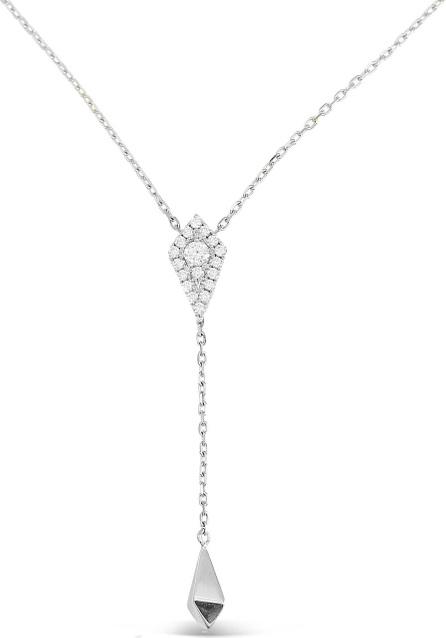 Frederic Sage 18k White Gold Firenze Diamond Kite Lariat Necklace