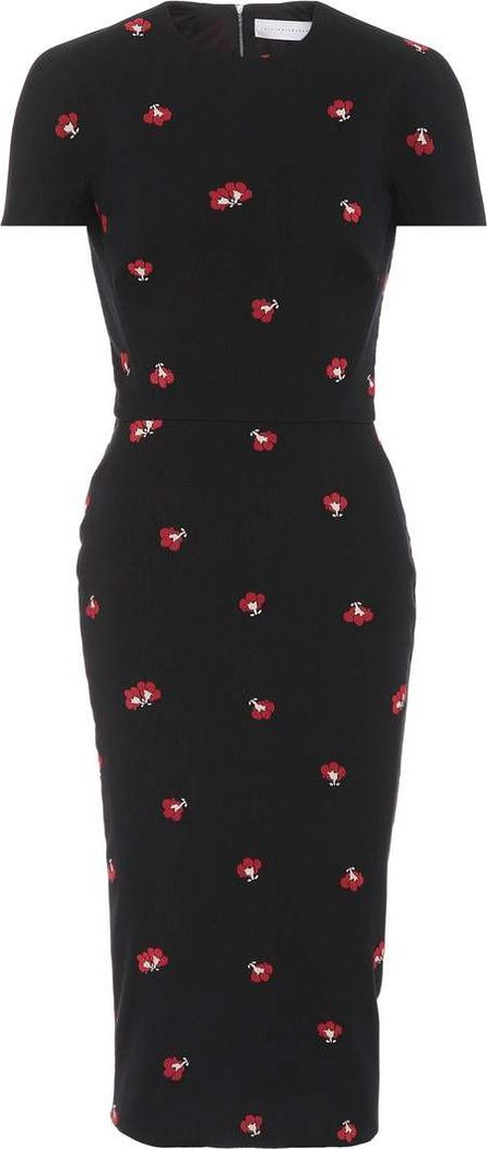 Victoria Beckham Printed cotton-blend dress