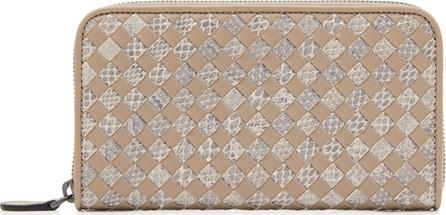 Bottega Veneta Zip Around Leather Wallet