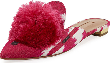 Aquazzura Powder Puff Jacquard Mule Slide
