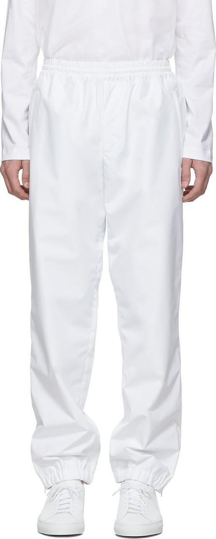 Helmut Lang White Pull-On Track Pants