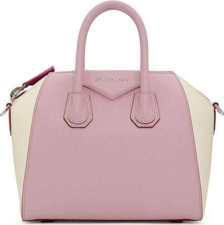 Givenchy Pink & Off-White Mini Antigona Bag