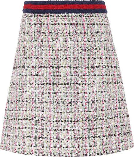 Gucci Tweed A-line miniskirt