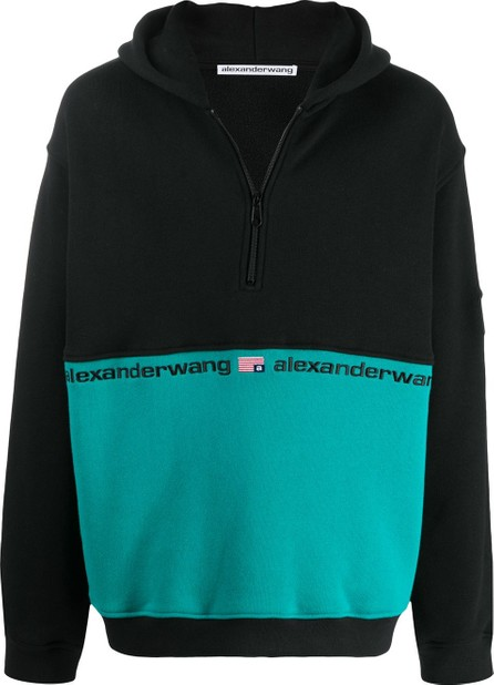 Alexander Wang Bi-colour hooded sweatshirt