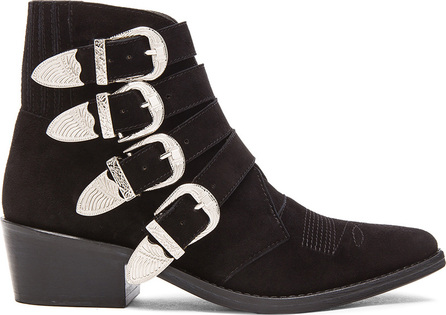 Toga Suede Buckled Booties