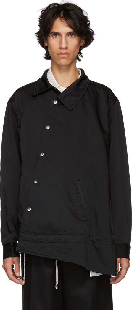 Comme Des Garçons Homme Plus Black Satin Garment Jacket