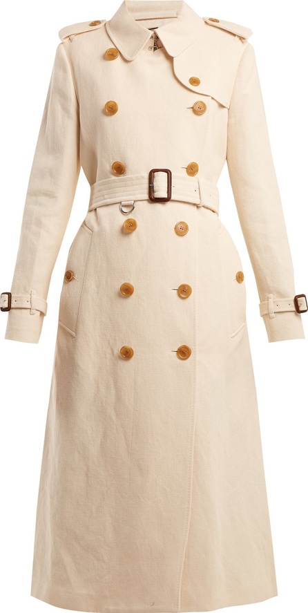 Burberry London England Kelvedon belted cotton and linen-blend trench coat
