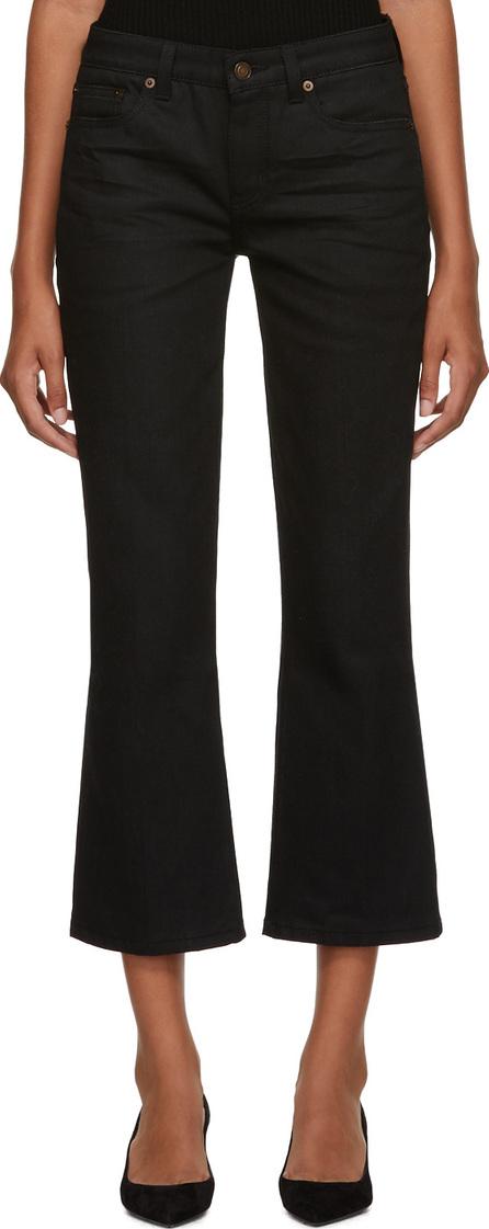Saint Laurent Black Bootcut Cropped Jeans