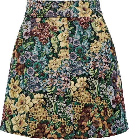 Sandro Dariane floral-jacquard mini skirt