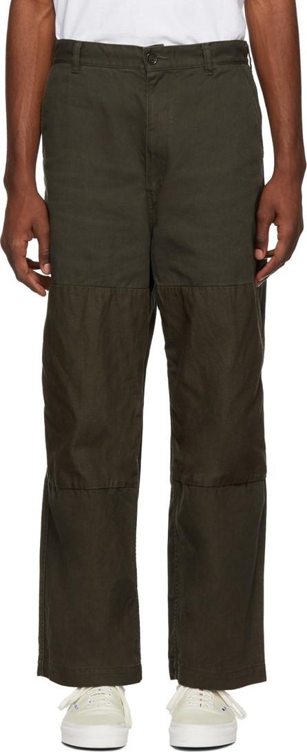 Comme des Garçons Homme Khaki Mix Trousers