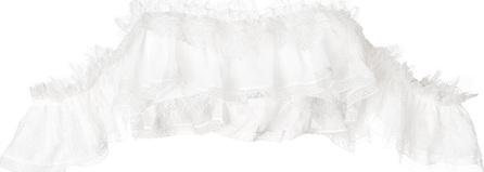 Ermanno Scervino Ruffle trim bikini top