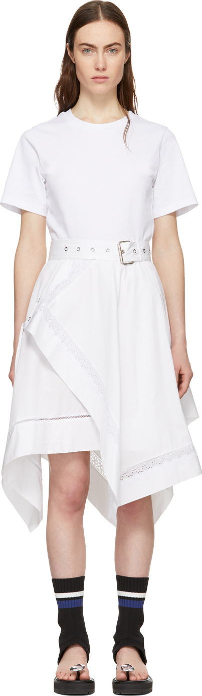 3.1 Phillip Lim White Handkerchief Skirt Dress