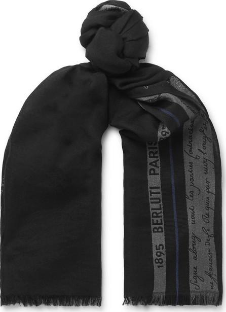 Berluti Silk, Wool and Cashmere-Blend Jacquard Scarf