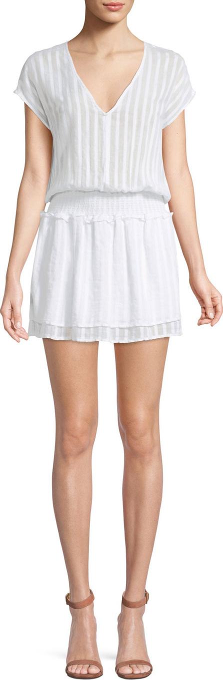 RAILS Lucca Tonal-Stripe V-Neck Mini Dress