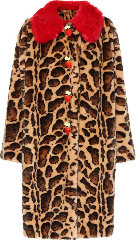 Dolce & Gabbana Leopard faux fur coat