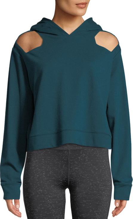 Nylora Austen Cutout-Shoulder Cotton Hoodie Sweatshirt