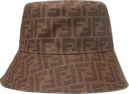 Fendi Logo-Jacquard Coated-Canvas Bucket Hat