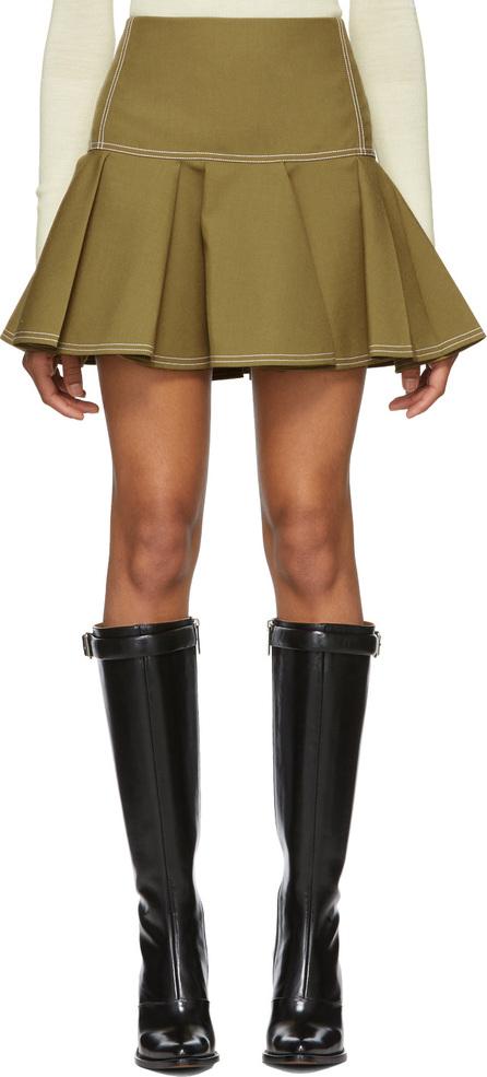 Chloe Green Ruffled Miniskirt