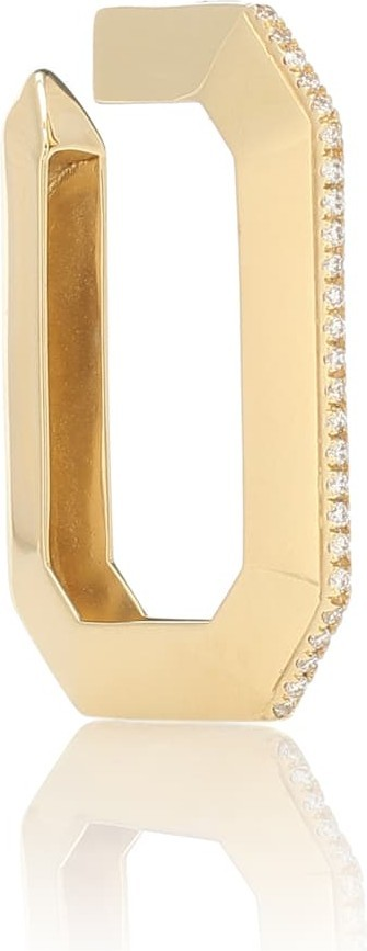 Eera Sabrina 18kt gold single ear cuff with diamonds