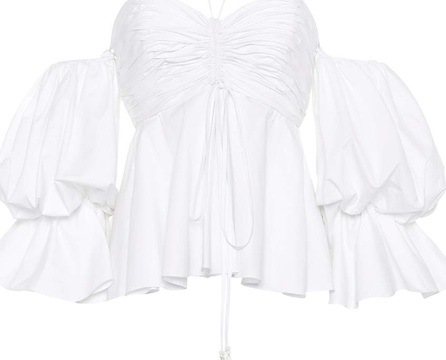 Johanna Ortiz Exclusive to mytheresa.com – Sao Tome cotton poplin top