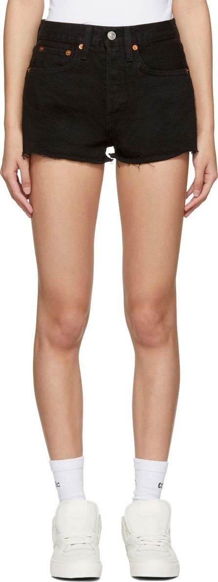 RE/DONE Black Originals Denim 'The Shorts' Shorts