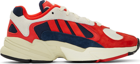 Adidas Originals White & Red Yung 1 Sneakers