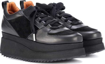 Ganni Naomi leather platform sneakers