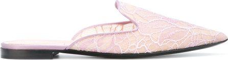 Alberta Ferretti Mia appliqué mule slippers