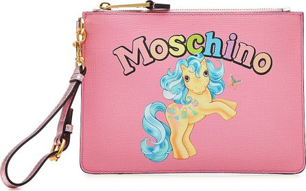 Moschino Little Pony Zipped Clutch