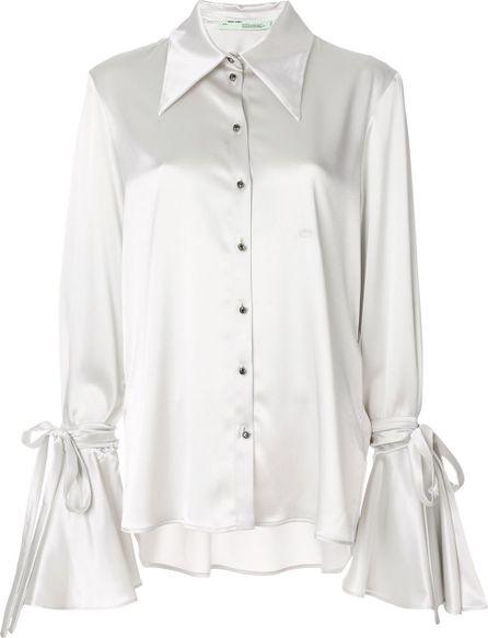 Off White bow sleeve shirt