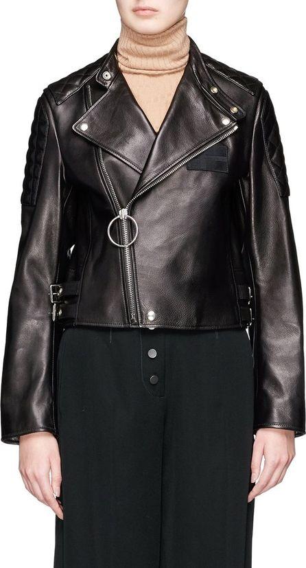 Acne Studios 'Locke' cow leather cropped biker jacket