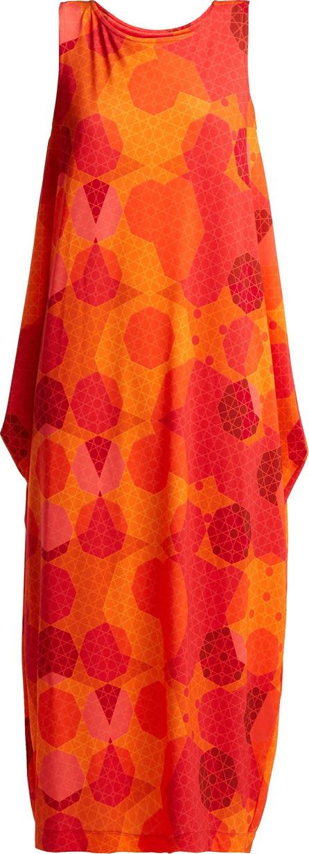 Issey Miyake Sunlight geometric-print dress