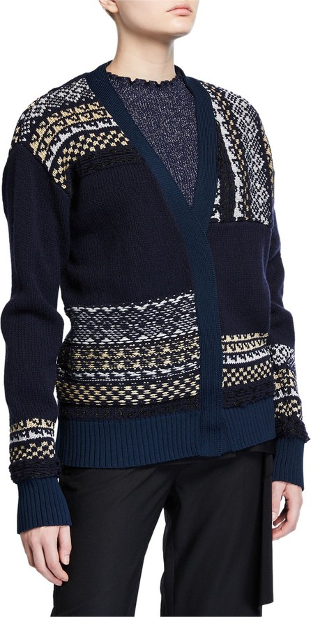 3.1 Phillip Lim Fair Isle Patchwork Cardigan