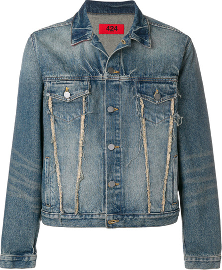 424 Fairfax Frayed detail denim jacket