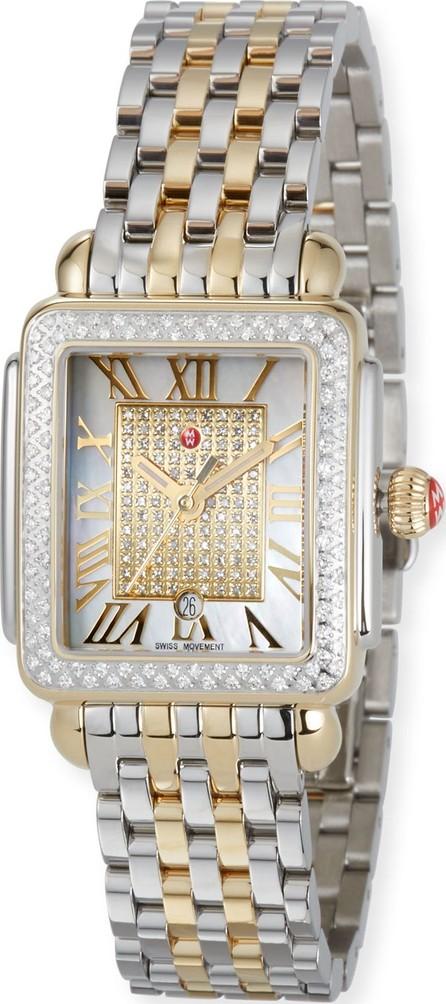 MICHELE Deco Madison 16 Mid Two-Tone Diamond Watch