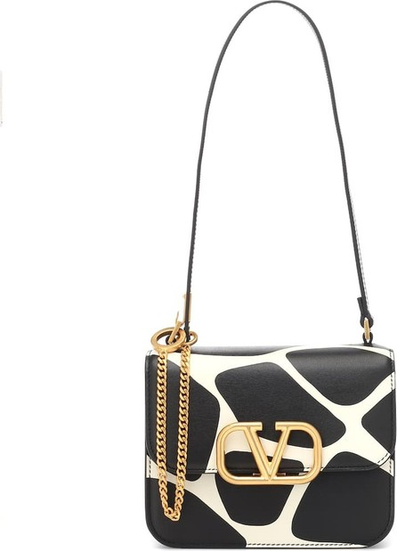 Valentino Valentino Garavani VLOGO printed leather shoulder bag