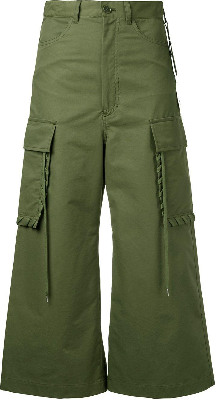 G.V.G.V. - shoe lace stitch cargo pant culottes