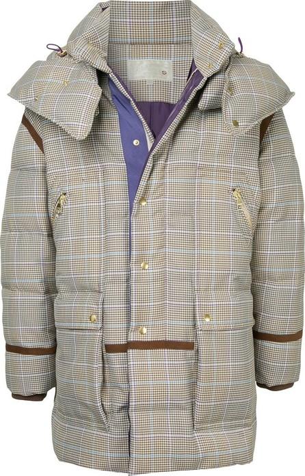 A(Lefrude)E Checked padded coat