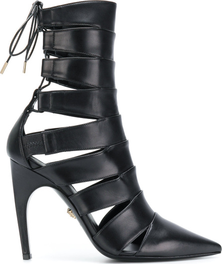 Versace Pointed lace-up boots