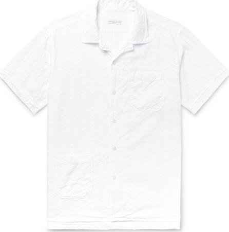 Engineered Garments Camp-Collar Eyelet-Embellished Cotton Shirt
